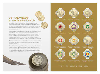 Latest Release 30th Anniversary of the $2 Coin 12 Uncirculated Coin Folder.
