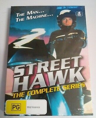 Street Hawk The Complete Series DVD. Brand new and sealed. 4 Disc Set.