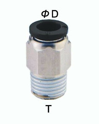"""1/4"""" Tube OD x 1/4"""" NPT Thread (10-pack) Male Straight Push to Connect"""