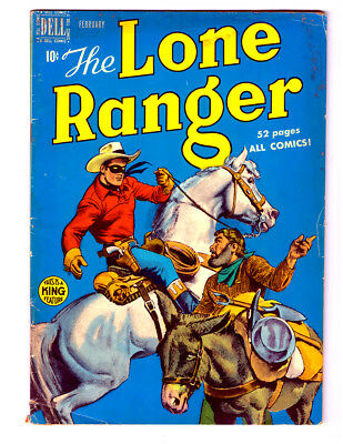 The LONE RANGER #20 in VG/FN condition 1950 DELL Golden Age comic SILVER & TONTO