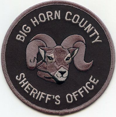 Big Horn County Montana Mt Sheriff Police Patch