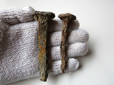 Lot of 2 Ancient Roman iron nails for crucifixion 1-2 century AD.