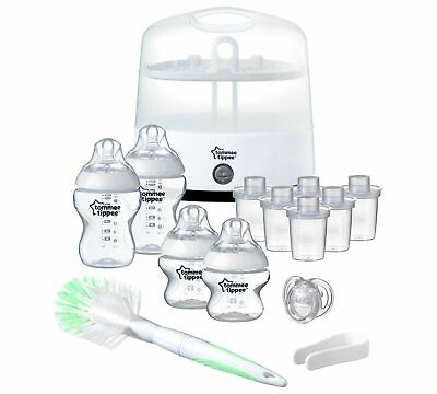 Tommee Tippee Bottles Steamer Fast Steriliser With Accessories Kit BPA Free Milk