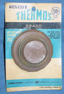 Vintage 1963 Brown Plastic Thermos Stopper #762 Fits Collectible Thermos - NOS