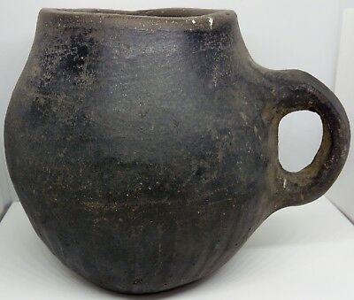 Stein Black Clay Cup Earl Viking 130mm. 100-500AD.   Early Middle Ages