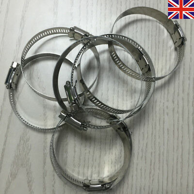 UK Stainless Steel Hose Clip Clips Worm Drive 8mm - 180mm Clamp Sizes Available