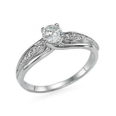 1.20 CT Round Cut Diamond Solid 14K White Gold Womne's Engagement Solitaire Ring