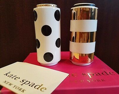 KATE SPADE FAIRMOUNT PARK DOTS & STRIPES SALT/PEPPER SET:New in Box