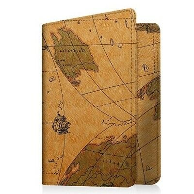 Leather Passport Wallet Blocking Case Credit Card ID Holder Travel Cover Genuine