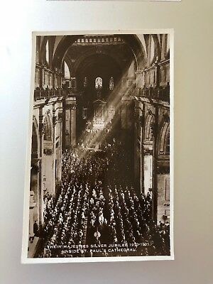 vtg 1935 real photo postcard - King George V Queen Mary Royal Silver Jubilee UK
