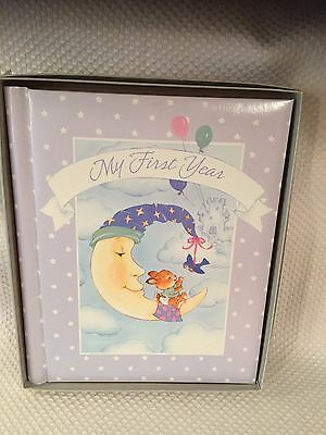 My First Five Years Carlton Cards Vintage Baby Keepsake Book Bunny Theme NEW