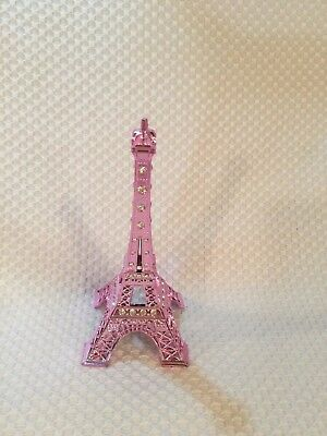"5 1/4"" Metal Eiffel TOWER with Bling Pretty Home Decor PINK FIGURE"