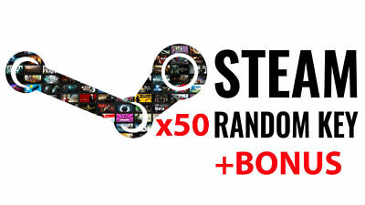 x50 Random Steam Key Game Pc Cd Global Delivery Fast + BONUS (REGION FREE)