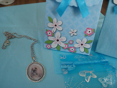 'LHASA APSO'  LIGHT COL.  Pendant and chain  NEW with gift bag