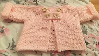 Hand knitted baby cardigan 0-3months