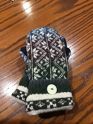 Handmade Felted Wool Mittens made from upcycled sweaters,fleece lined.