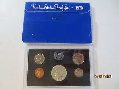 1970 S US Mint 5 Coin Proof Set Complete with Box Sleeve