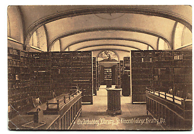 Postcard  Beatty Penn The Archabbey Library St Vincent College