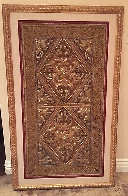 TIBETAN EARLY TRAPUNTO BUDDHIST TAPESTRY Fabric Quilt
