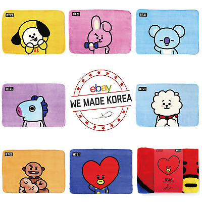 BTS BT21 Character Flannel Blanket Soft Warm Towel Official K-Pop Authentic MD