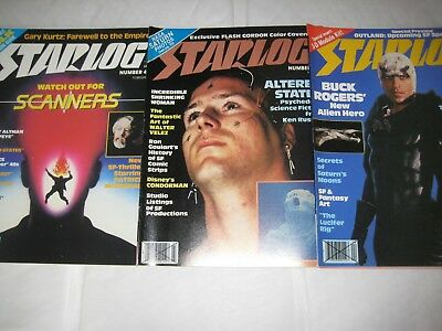 Starlog Magazine #43 #44 #45 1981 Altered States Scanners Buck Rogers