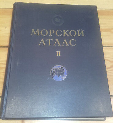 SOVIET MILITARY MARINE ATLAS/ MORSKOI ATLAS, vol.II(Physical Geography), ed.1953