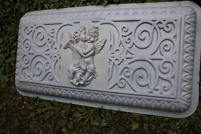 """Angel  concrete bench top mold plastic mould memorial bench 32"""""""
