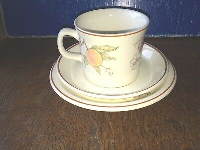 Wedgwood Peach Trio Cup Saucer Tea Plate 15.6cm diameter £2.95 postage for both