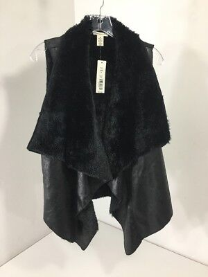 Westbound Women's Faux Leather Vest Black Small Nwt $69