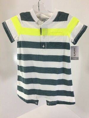 1d0059dc12a7 BABY BOYS SIZE 3 Month Carter s Gray White Striped Romper -  4.95 ...