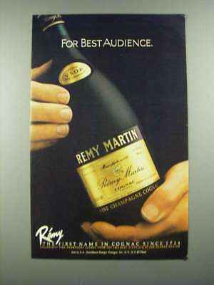 1982 Remy Martin Cognac Ad - For Best Audience