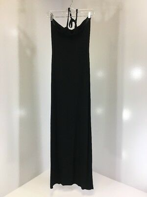 aade90a91f0a6 BOOHOO WOMEN'S POPPY Halterneck Maxi Dress Black Uk:8/us:4 Nwt ...