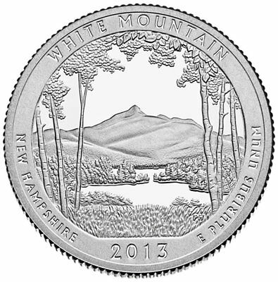 2013 P White Mountain National Forest Quarter - Brilliant Uncirculated - ATB