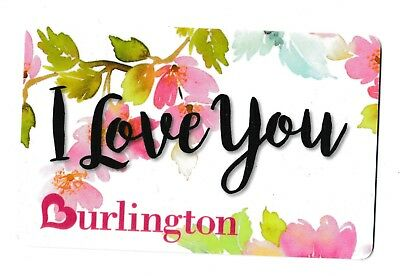 Burlington no value collectible gift card mint #10 I Love You