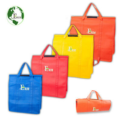 2pcs SimpleShop Large Reusable Grocery Shopping Bags Coles Woolworths Trolley