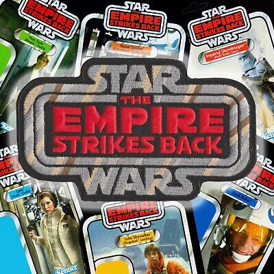 """Hasbro Kenner STAR WARS """"The EMPIRE STRIKES BACK"""" Vintage style logo patch WORLD"""