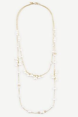 ANN TAYLOR PEARLIZED LUCITE NECKLACE NEW WITHOUT TAG