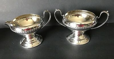 Monarch Plate Brand Silver Plated Creamer And Open Sugar Dish