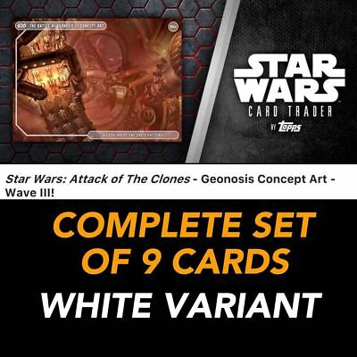 AOTC GEONOSIS CONCEPT ART WAVE 3 WHITE PRESALE SET OF 9 Star Wars Trader Digital