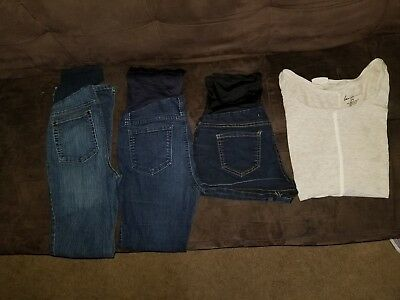 Maternity clothes jeans size small lot