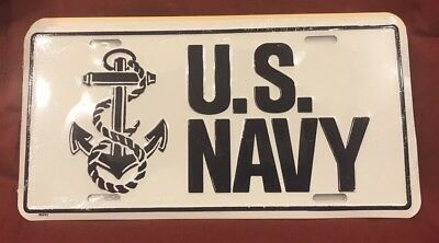 U.S. United States Navy Aluminum Automobile Car Truck License Plate Tag
