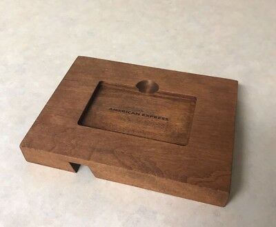 American Express Platinum Welcome Package Amex Wood Wooden Cell Phone Stand New