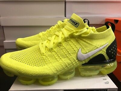 33ee55d37ec8 Nike Air Vapormax Flyknit 2 Volt White Black 942842 700 Size 10.5 New in Box