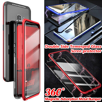 3D Screen Protection Tempered Glass Magnet Adsorption Case For Samsung S9 Note 9