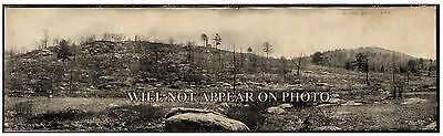 """1909 Little and Big Round Top, Gettysburg Vintage Panoramic Photograph 23"""" Long"""