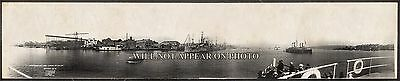 "1911 Mare Island Navy Yard Harbor Vintage Panoramic Photograph 7"" x 34"" Long"