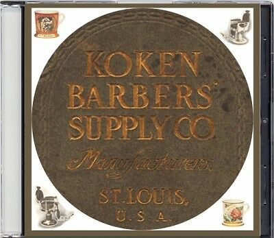 1908 Koken Barber's Supply Catalog on CD - Barber Chairs, Poles, more