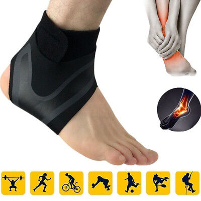 US Adjustable Ankle Support Brace Foot Sprains Injury Pain Wrap Guard Protector