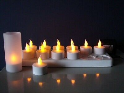 Candle Light Set of 12  LED Rechargeable Tea Light Candles