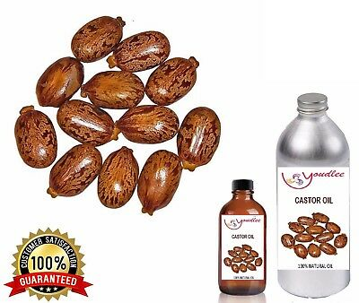Castor Seed Essential Oil 100% Pure Natural Undiluted Uncut Aromatherapy